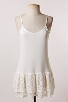 Ivory Lace Camisole Top Extender