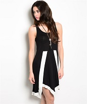 Black And White Sleevless Dress