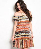Multi Color Boho Dress