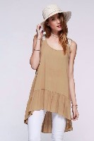 Khaki Tank Tunic Top