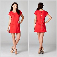 Tomatoe Red Tunic Dress