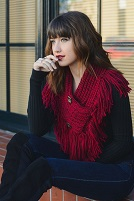 Burgundy Knit Scarf Shawl